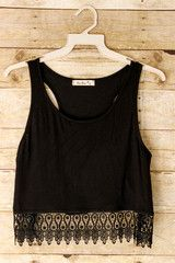 Man Hunter Crop Top: Black - Shoreline Boutique