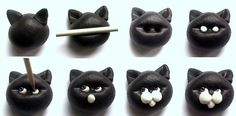 Cat Project - Birdy Heywood  Tutorial for clay but could be done with fondant or gumpaste