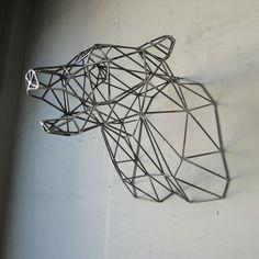 Bear head by Wyatt Studio