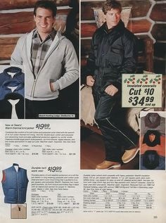 1986 Men's snowsuit and sweatshirt Sears Christmas Catalog | by Wishbook