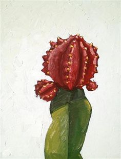 Original art for sale at UGallery.com | Cactus No.1 by Nicole Newsted | $1,075 | oil painting | 24' h x 18' w | http://www.ugallery.com/oil-...