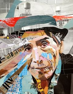 Example of Patrick Bremer Online - Portrait Artist Brighton UK, collage Collage Illustration, Painting, Collage Art Mixed Media, Illustration Art, Art, Collage Artists, Paper Art, Portrait Art, Altered Art