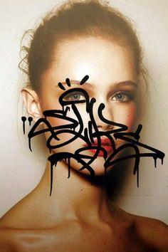 Tags Face by Rafael Sliks #tag #streetART #graffiti