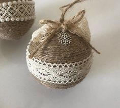 Set of 5 Twine Ornaments for Rustic Christmas Decor Country Country Christmas Decoration Housewarming Gift Star Ornament Farmhouse Xmas Decor - Set of 5 twine ornaments for rustic Christmas decor Etsy - Rustic Christmas Ornaments, Country Christmas Decorations, Farmhouse Christmas Decor, Xmas Decorations, Christmas Diy, Christmas Wreaths, Burlap Ornaments, Homemade Christmas Tree Decorations, Christmas Bulbs