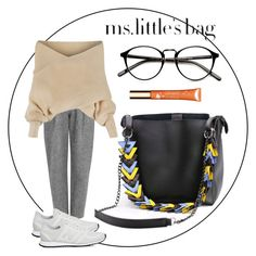 """""""Ms.Little's Bag Casual Autumn ensemble"""" by eveliine-ursu on Polyvore featuring Acne Studios, New Balance, WithChic and Clarins"""