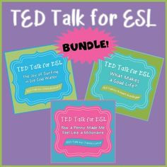 This is a bundle of four lessons created for upper intermediate and advanced ESL students. These lessons practice listening, speaking, reading, writing, vocabulary, and grammar skills. The bundle currently contains lessons for four different TED talks. More to follow!