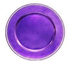 Rhinestone 13 Charger Plates - Purple