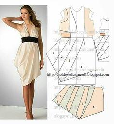 Drapped dress