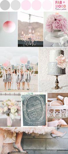 Nicht gerade üblich zur Silberhochzeit, aber trotzdem sehr schön: Silber bzw. Grau in Kombination mit Rosatönen #Silberhochzeit #Colours #Farbkombinationen