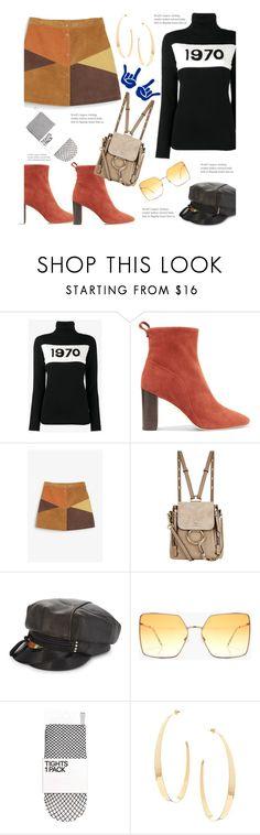"""70's"" by dianefantasy ❤ liked on Polyvore featuring Bella Freud, Chelsea Paris, Monki, Chloé, Stephen Jones, Boohoo, Lana, BackToSchool, polyvorecommunity and polyvoreeditorial"