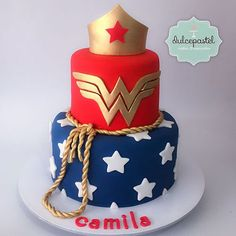 Wonder woman birthday cake for Gracies birthday Wonder Woman Birthday Cake, Wonder Woman Cake, Wonder Woman Party, Birthday Woman, Women Birthday, Cake Birthday, 9th Birthday, Pretty Cakes, Cute Cakes
