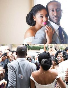 Natural Hair Wedding, Natural Hair Updo, Wedding Hair And Makeup, Bridal Hair, Natural Hair Styles, Natural Hair Brides, Afro Hairstyles, Bride Hairstyles, American Hairstyles