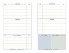 Free printable student planner, designed to help middle and high school students keep track of assignments, up coming tests, and things they...