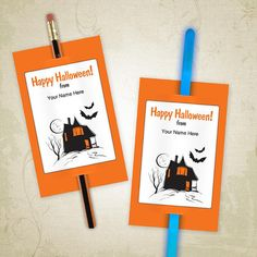 halloween tags for pencils template