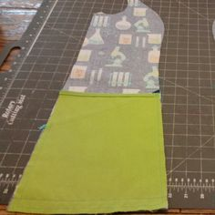 Sewing pocket on one side. One more to go!!