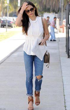 7921c5eb6f5 Jenna Dewan Tatum + jeans Denim Shoes
