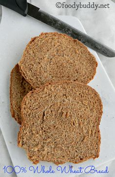 This is one of the easiest Bread Machine Whole Wheat Bread Recipe that I have ever tried. Easy, quick, no kneading bread recipe in bread machine. High in protein and fibers. High Fiber Bread Machine Recipe, Whole Wheat Bread Machine Recipe, Bread Machine Recipes Healthy, 100 Whole Wheat Bread, Bread Maker Recipes, Pain Artisanal, Protein Bread, Easy Bread, Vegan Dishes