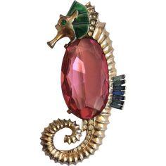 Rare Coro Seahorse Pin