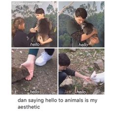 You can always judge a man's character by how he treats animals. Dan is a gentle giant. Literally. :D