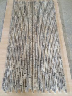 by Free Silver brushed travertine mosaics. Mosaic Tiles, Mosaics, Free Silver, Travertine, Shag Rug, Home Decor, Mosaic Pieces, Shaggy Rug, Decoration Home