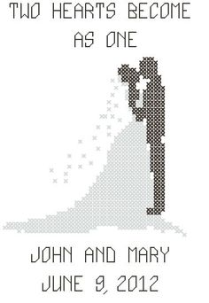 Cross Stitch Wedding Couple Pattern/Chart - your-craft.co