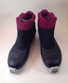 e9cad85dbc56 Salomon 4.1 Profil Men s Cross Country Ski Boots Size US16 EUR 49 Blue  Purple