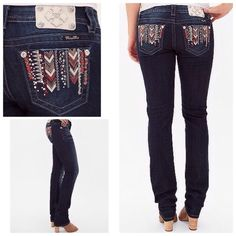Aztec Easy Skinny Miss Me Wowza!~Is a really special given that they are easy vita they will fit a size 32 as well..what a fabulous pop of color pair with the Michael Kors shirt in our closet! Miss Me Jeans Skinny