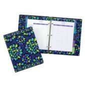 "Vera Bradley 2013 Agenda in Indigo Pop SKU #12347126  | Agenda: 7"" x 9"" x 1 ½"" Address Book: 6"" x 8""      18-month agenda (July 2012 - December 2013)      Includes laminated tabs, two built-in pockets, a removable bookmark, stickers and an address booklet      Cover made from 30% - 100% recycled paper"