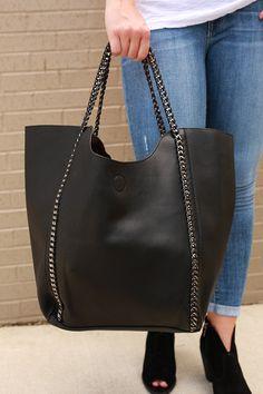 The Essential Tote Bag in Black