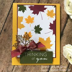 Stampin' Up! Colorful Seasons Fall Card – Stamp It Up with Jaimie christiancards Hand Stamped Cards, Fall Cards, Christmas Cards, Stamping Up Cards, Bird Cards, Thanksgiving Cards, Halloween Cards, Creative Cards, Homemade Cards