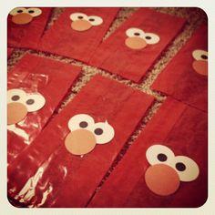 Elmo party favor bags