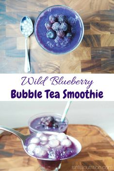 Wild Blueberry Bubble Tea Smoothie Recipe -- Chewy tapioca pearls make this healthy breakfast just like my favorite boba tea! #wildyoursmoothie #ad