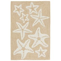 """Trans-Ocean Imports CAP23166712 Liora Manne Capri Starfish Indoor/Outdoor Rug Natural 24""""X36"""""""