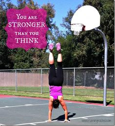 You are so much stronger than you think! #handstandfriday via @Rachel Steffen