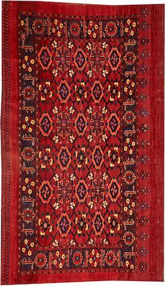 Beshir rug  Turkestan  late 19th century  size approximately 3ft. 4in. x 5ft. 10in.