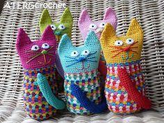 Crochet pattern cat by ATERGcrochet. €2.75, via Etsy.