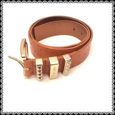 """MICHAEL KORS Large Ostrich Look Belt Used a few times. Approximately 1 1/2"""" wide and 44 inches long end to end. Items in my closet are all packed. Most reasonable offers are accepted. MICHAEL Michael Kors Accessories Belts"""