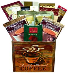 Coffee Gift Baskets - Art of Appreciation Gift Baskets Coffee Break Box. Impress friends, family or your most important business clients with this clever gift featuring premium coffees, sweets and great java go-togethers.