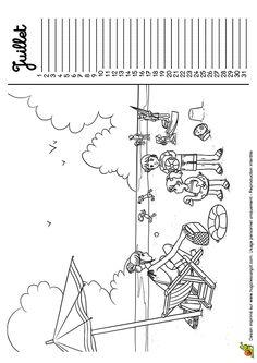 coloriage calendrier mois d u0027octobre avec le dessin des enfants