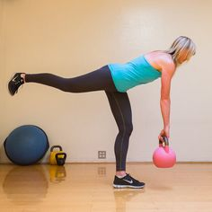 Single-Leg Deadlifts plus 16 other great workouts to tone your glutes! Great exercises!