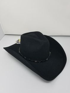 a702fc9d04c Bullhide Wild Horse Black Wool Cowboy Hat Item BH-0381BL