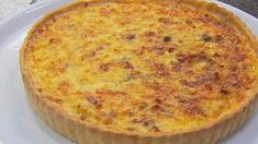 Classic Quiche Lorraine with green salad and vinaigrette