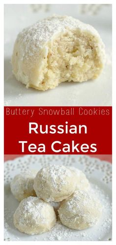 Wedding Cake Recipes Russian Tea Cakes – Also called Mexican wedding cookies or snowball cookies. These cookies melt in your mouth and are perfect for Christmas cookie exchanges! Tea Cakes, Food Cakes, Bundt Cakes, Christmas Cookie Exchange, Christmas Desserts, Christmas Baking, Christmas Cookies, Russian Christmas Food, Desert Recipes