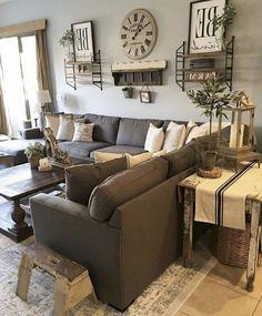 57+ Rural Farmhouse Living Room Design And Decor Ideas#farmhouse  #livingroomdesigns #farmhousedecor