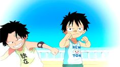 ace and luffy -one piece I Loved You First, Ace And Luffy, Manga Anime One Piece, Chief Of Staff, Otaku, Random Stuff, Naruto, Character, Kids
