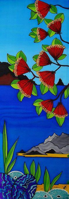 Canvas art print Waipu Cove with beautiful bright by JoMayDesign, $85.00