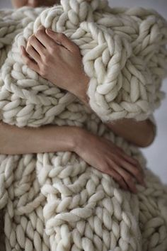 Knitted throw. Yes, please!