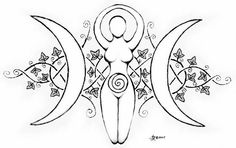 18 : F : Eclectic Witch I post nature, witchcraft, and the occult. Colouring Pages, Coloring Books, Mundo Hippie, Goddess Symbols, Triple Goddess Symbol, Goddess Tattoo, Moon Goddess, Wiccan Crafts, Body Art Tattoos