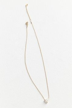 Slide View: 1: Cecilia Delicate Triangle Pendant Necklace