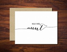 """Pregnancy Reveal Greeting Card for Sister -- """"Hello there, Aunt!"""""""